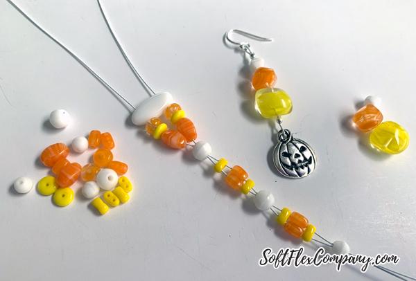 Candy Corn Bracelet & Earrings by Kristen Fagan