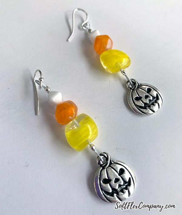 Candy Corn Earrings by Kristen Fagan