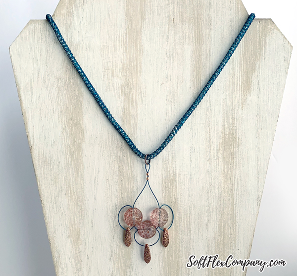 Modern Chandelier Style Pendant Necklace by Kristen Fagan