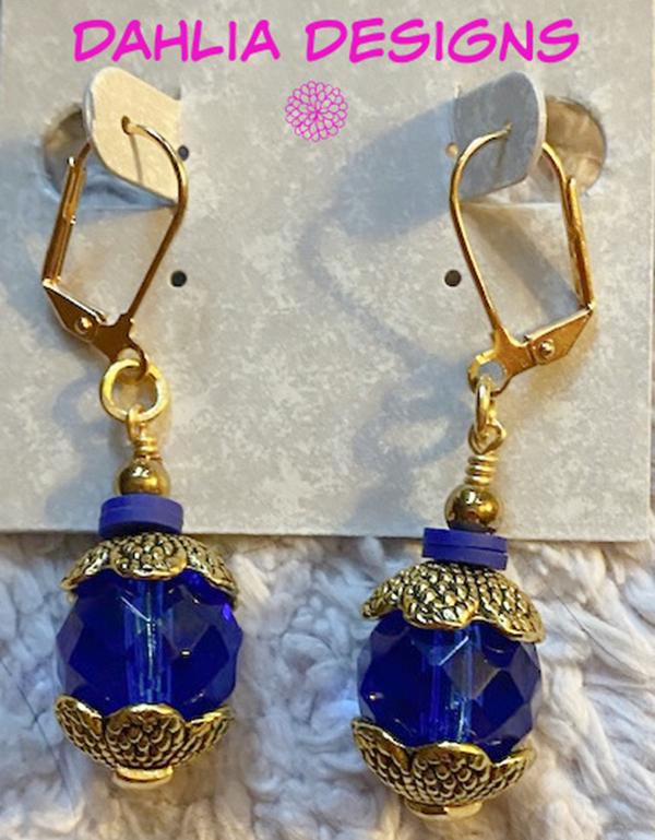 Depths Of Blue Earrings by Deb Houck