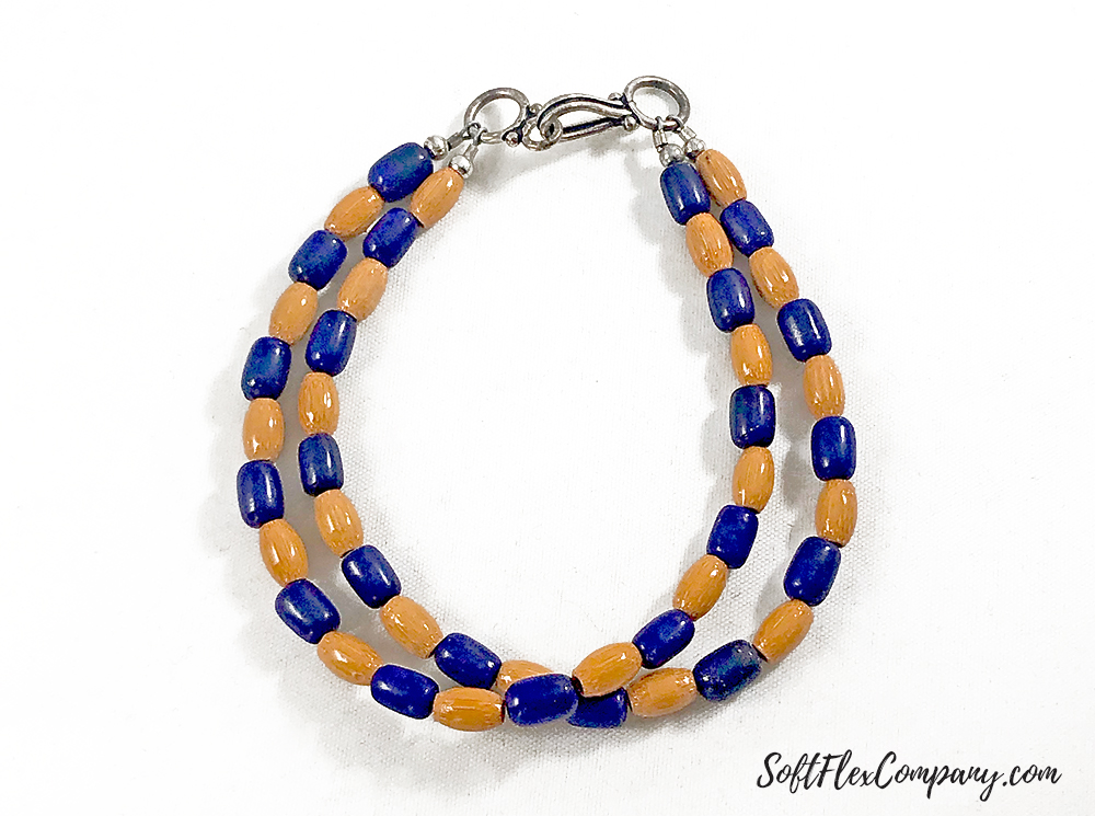 Men's 2-Strand Lapis and Bamboo Bracelet by Damien Shay