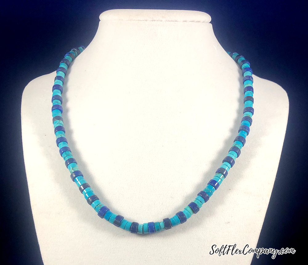 Men's Turquoise and Lapis Necklace by Damien Shay