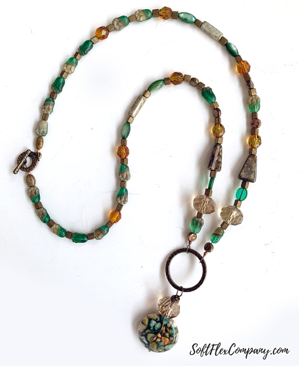 Fall Antique Brass Beaded Necklace by Kristen Fagan