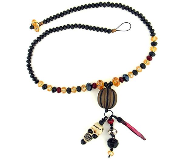 Floor Beads Treasure Necklace by Jamie Hogsett