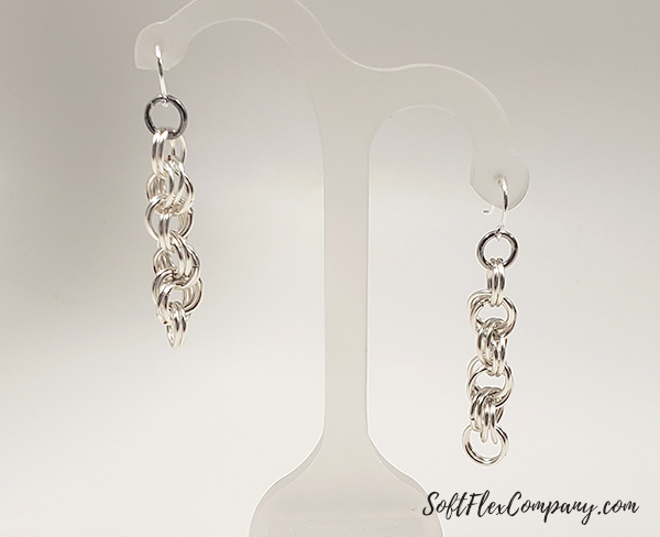 Double Spiral Link Craft Wire Earrings by James Browning