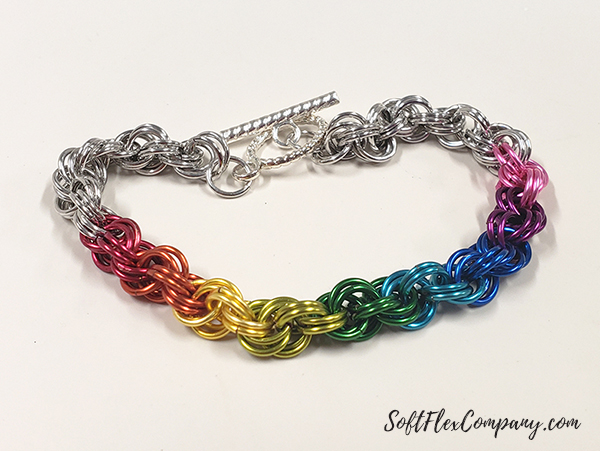 Double Spiral Link Craft Wire Bracelet by James Browning