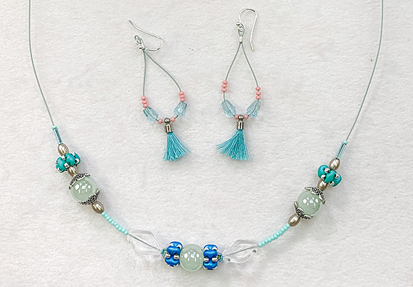 Serenity Shores Necklace and Earrings by Jill Wiseman
