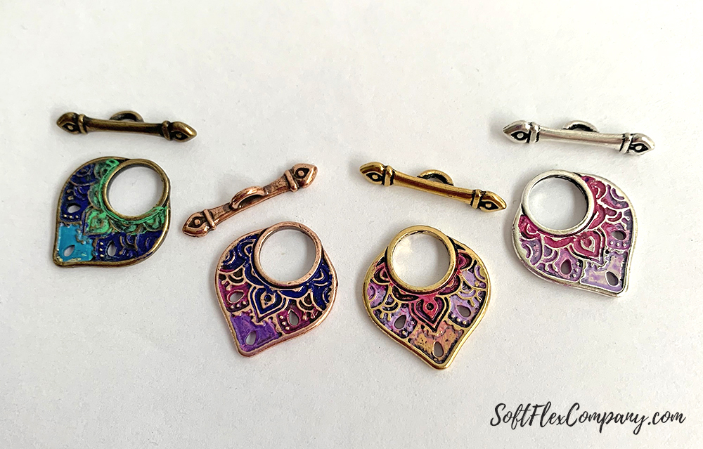 Patina Painted Toggle Clasps by Kristen Fagan