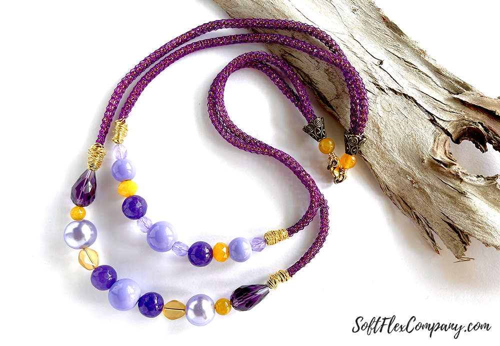 Purple Petals Necklace by Nealay Patel
