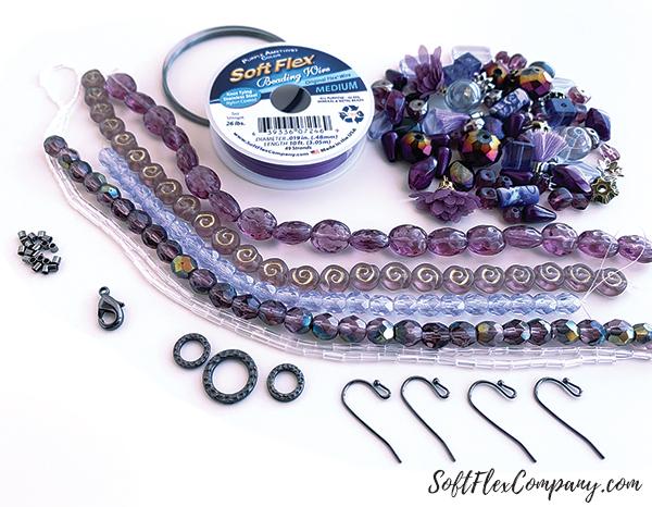 Purple Polka Dot Design Kit Contents