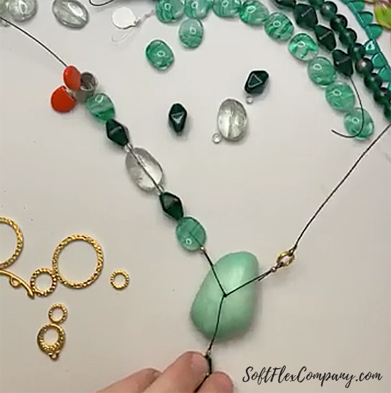 Chrysoprase, Green Amethyst and Czech Glass Necklace by Sara Oehler