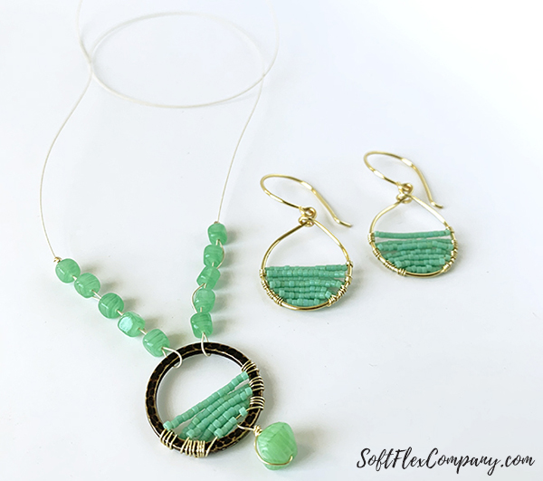 Soft Flex Craft Wire Necklace and Earrings by Sara Oehler