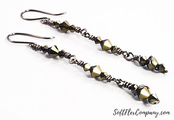 Gun Metal Earrings by Sara Oehler