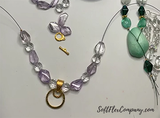 Purple Amethyst and Crystal Beaded Necklace by Sara Oehler