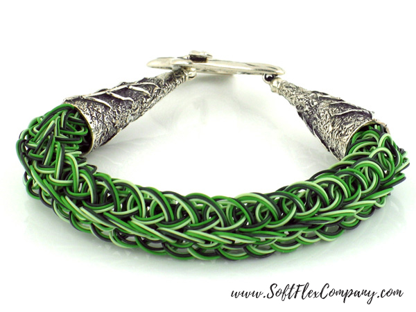 Renewal Trios Knitted Bracelet by Sara Oehler