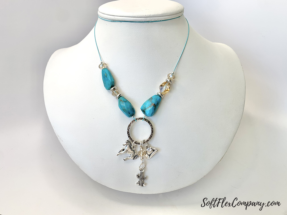 Tucson Inspired Sleeping Beauty Turquoise Necklace by Sara Oehler