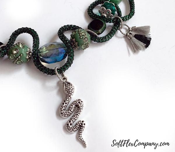 Jesse James Beads Slytherin Necklace by Kristen Fagan