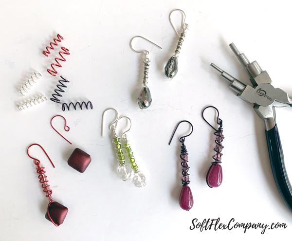 Craft Wire Spiral Drop Earrings by Kristen Fagan