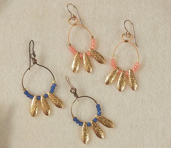 TierraCast Dagger Bead Earrings by Tracy Proctor