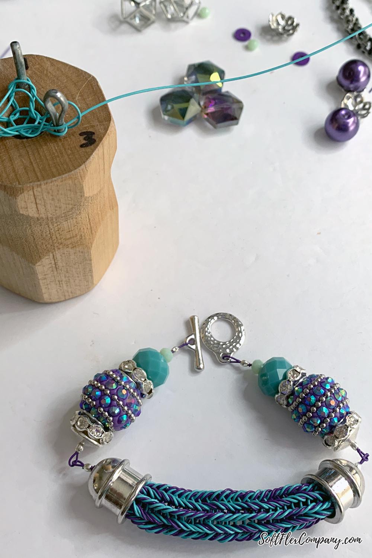 Two Color Knit Bracelet by Kristen Fagan