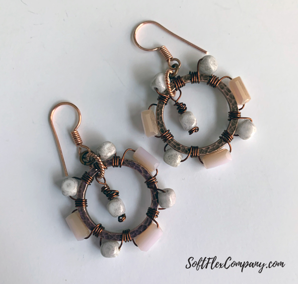 Wire Wrap Ring Connector Earrings by Kristen Fagan